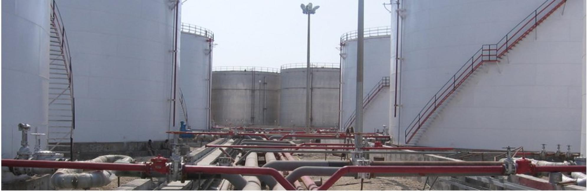 پروژه احداث انبار ذخیره سازی و صدور فرآورده های نفتی  واقع در بندر خلیج فارس