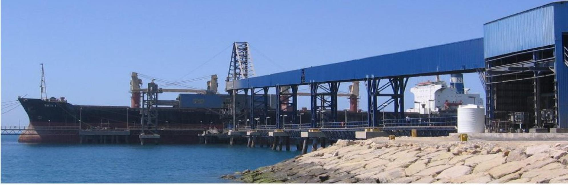 Sarooj  50,000 GT Berth, Shiploader 1200 Ton/hr Conveyor,  Kangan, Busher Province
